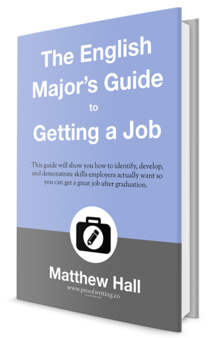 Proofwriting English Majors Guide to Getting a Job Cover Rendered 747w